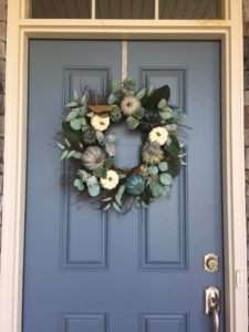 Cozy fall wreath for front door