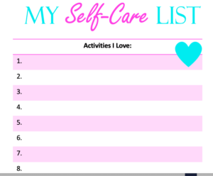 self-care printable list