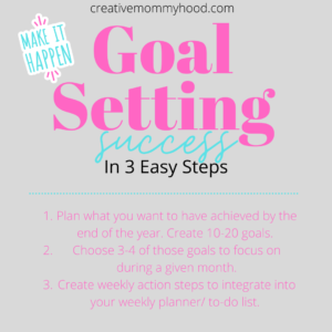 Goal setting outlined in 3 simple steps