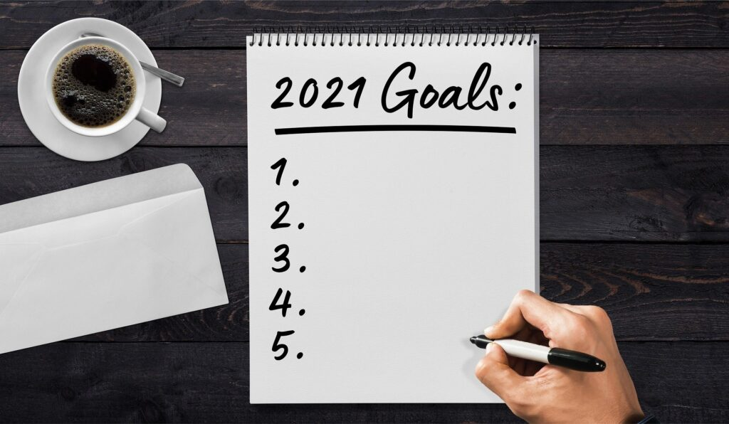 Goal setting paper for 2021